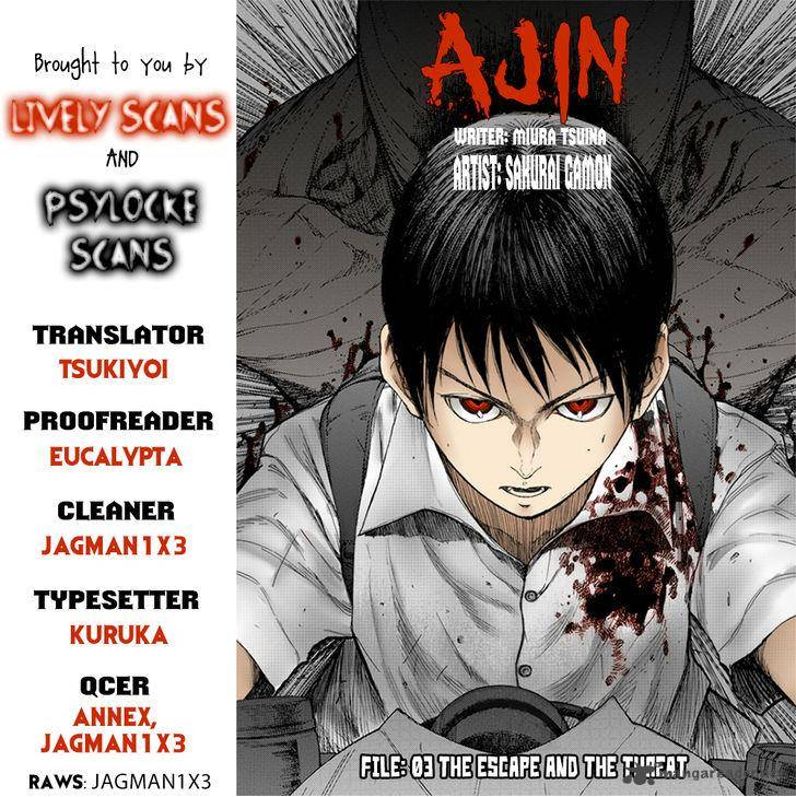 Ajin Chapter 3 Page 1