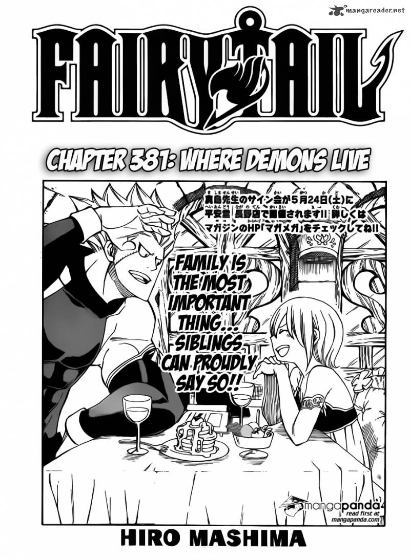 Fairy Tail Chapter 381 Page 1