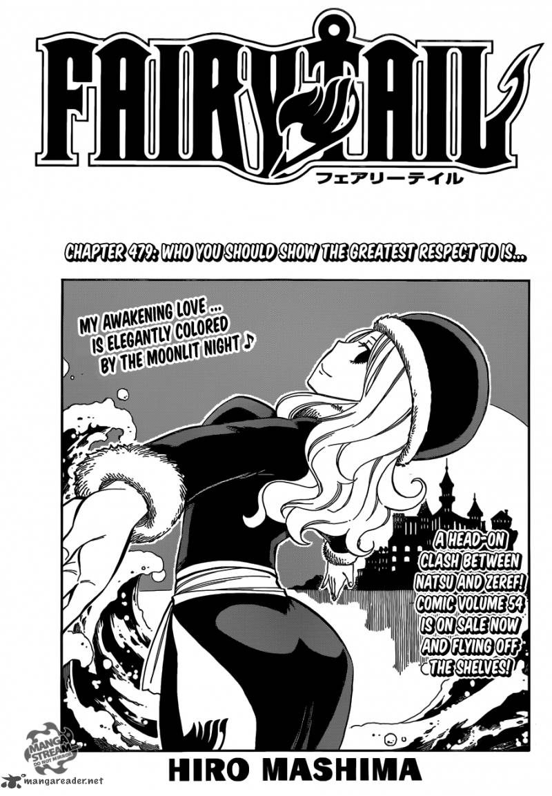 Fairy Tail Chapter 479 Page 1