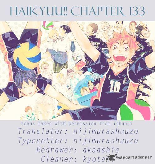 Haikyu Chapter 133 Page 1