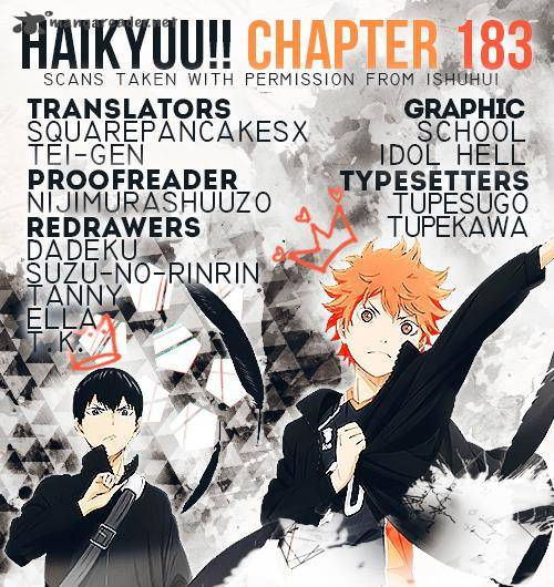 Haikyu Chapter 183 Page 1