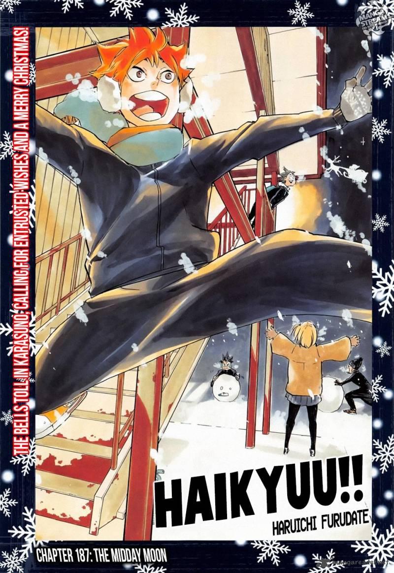 Haikyu Chapter 187 Page 1