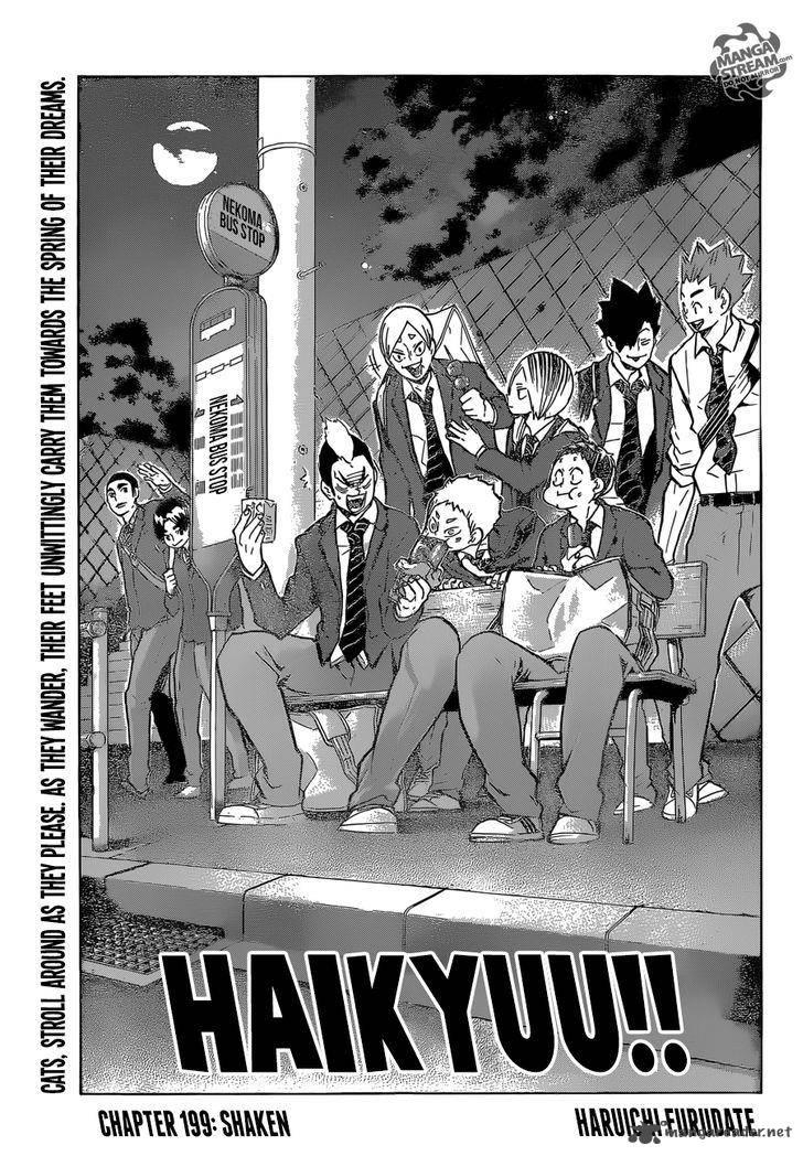 Haikyu Chapter 199 Page 1
