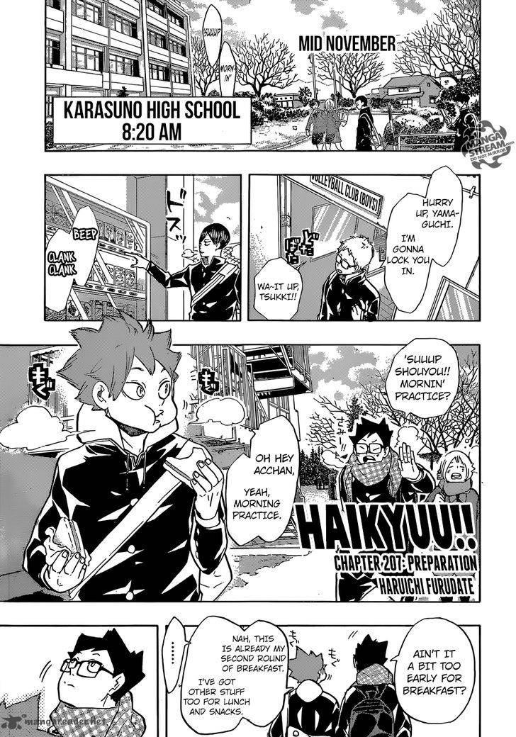 Haikyu Chapter 207 Page 1