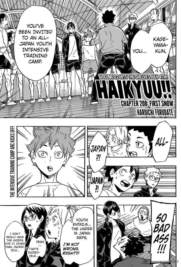 Haikyu Chapter 208 Page 1