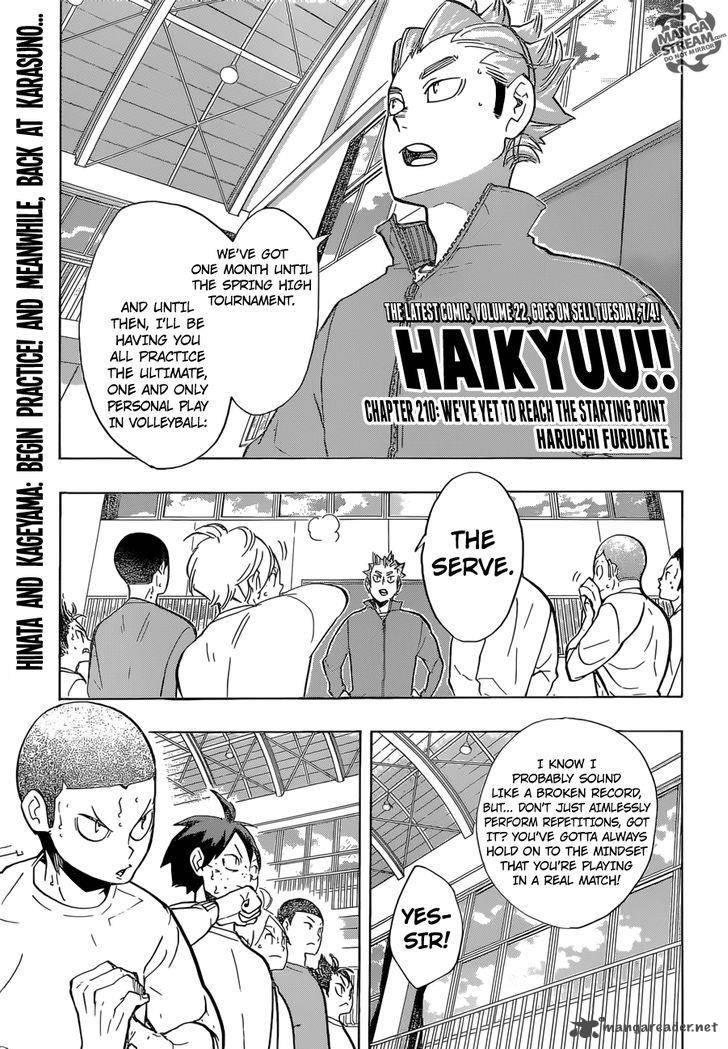 Haikyu Chapter 210 Page 1