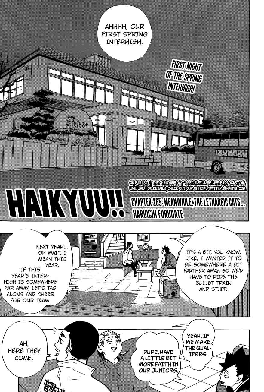 Haikyu Chapter 265 Page 1