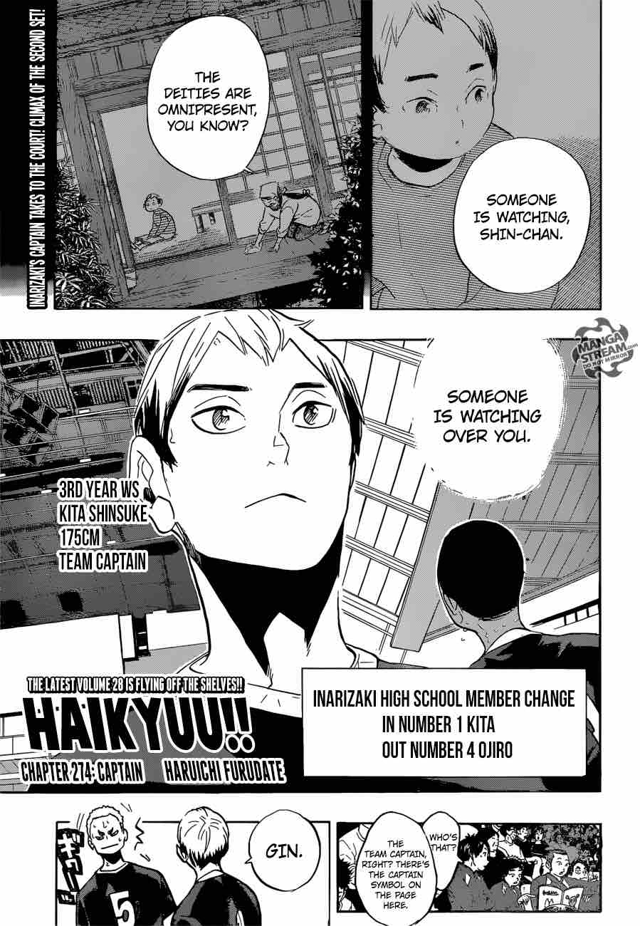 Haikyu Chapter 274 Page 1