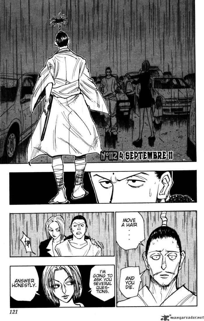 Hunter X Hunter Chapter 112 Page 1