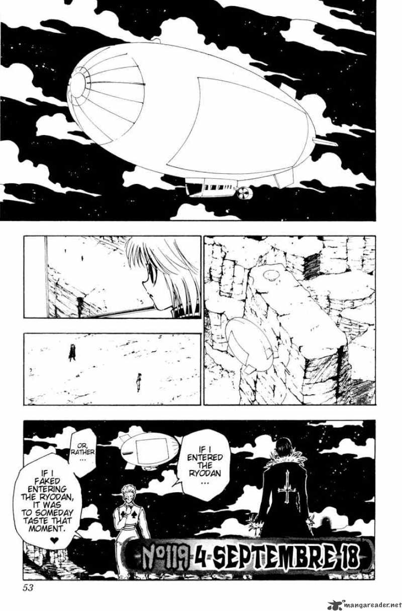 Hunter X Hunter Chapter 119 Page 1