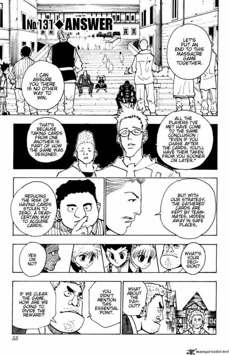 Hunter X Hunter Chapter 131 Page 1