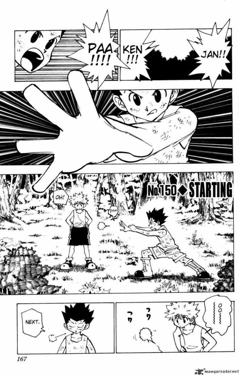 Hunter X Hunter Chapter 150 Page 1