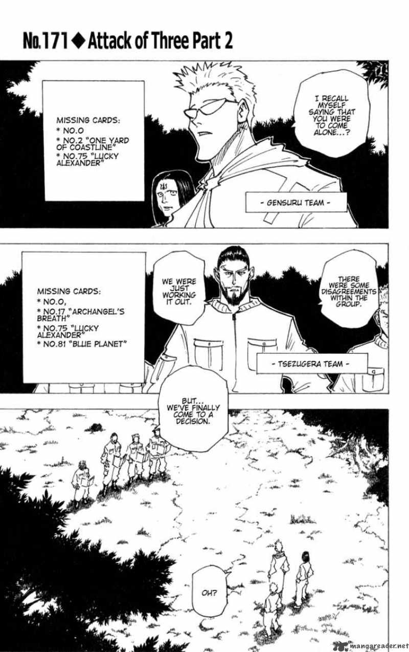 Hunter X Hunter Chapter 171 Page 1