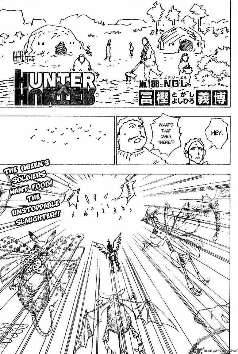 Hunter X Hunter Chapter 188 Page 1