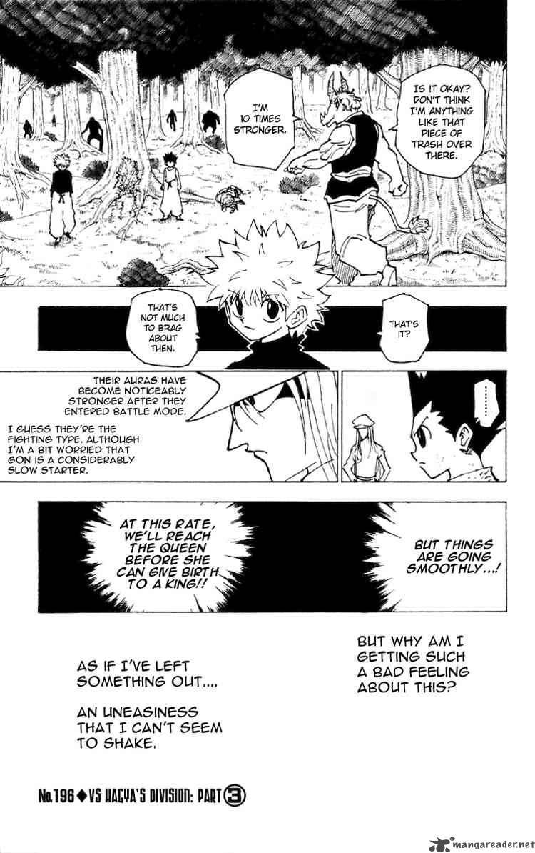 Hunter X Hunter Chapter 196 Page 1