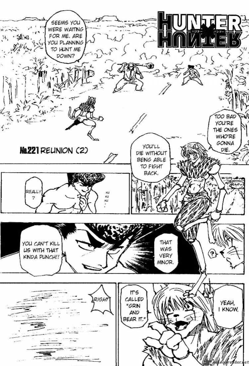 Hunter X Hunter Chapter 221 Page 1