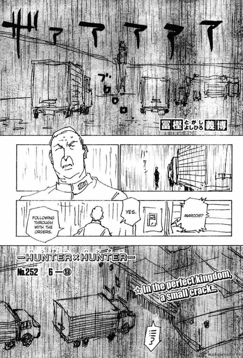 Hunter X Hunter Chapter 252 Page 1