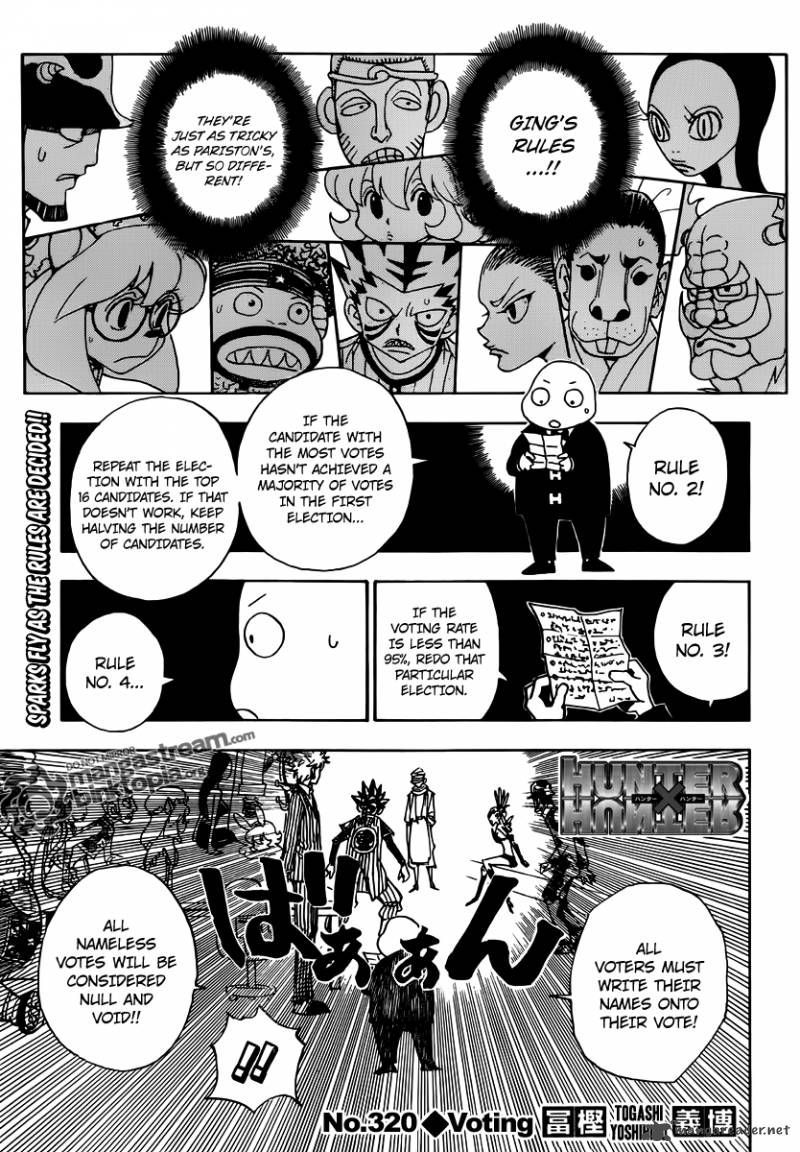 Hunter X Hunter Chapter 320 Page 1
