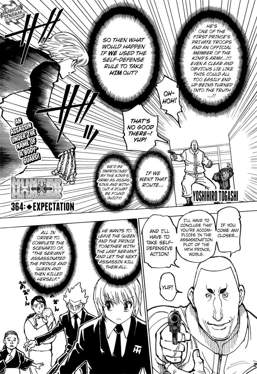 Hunter X Hunter Chapter 364 Page 1