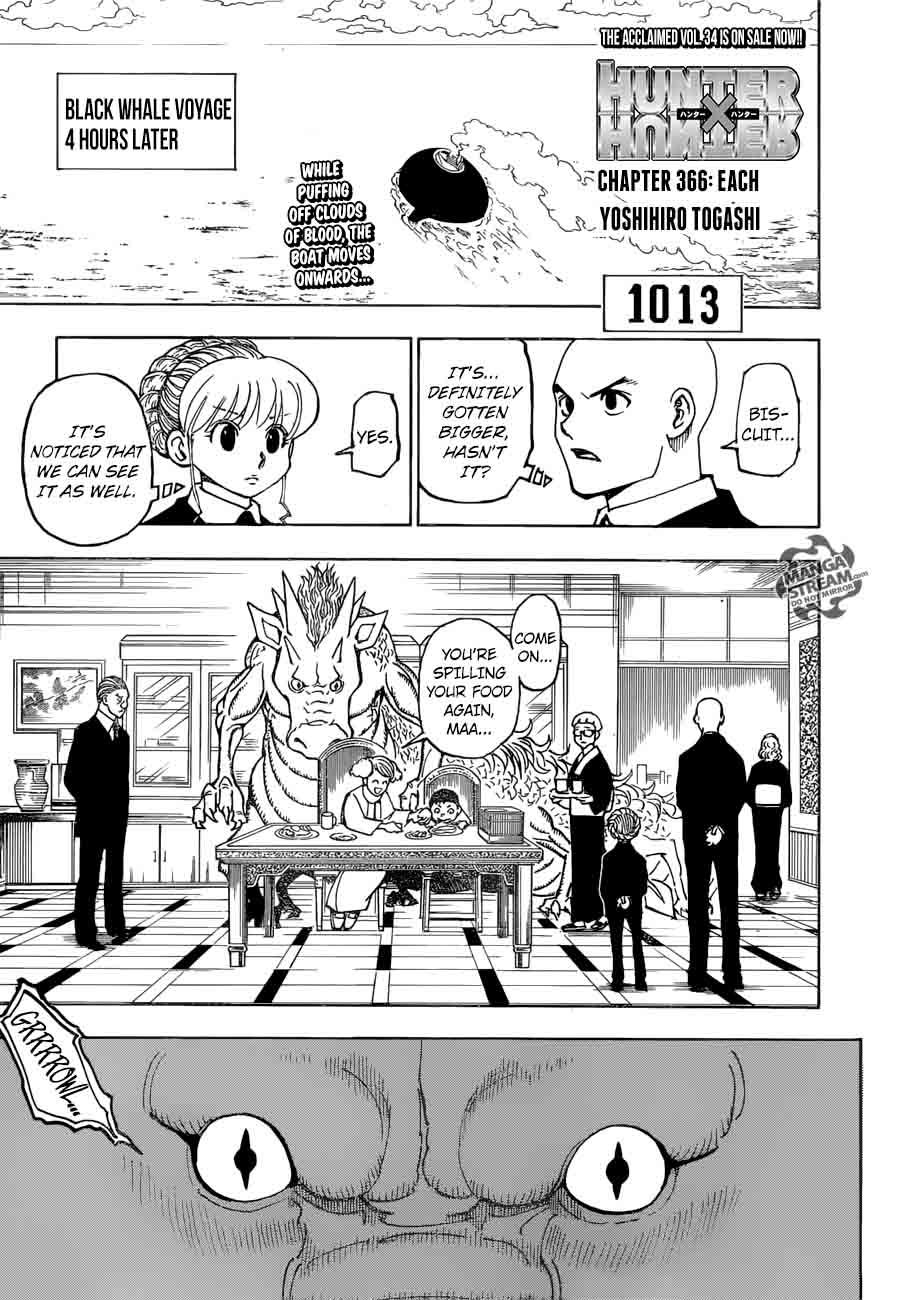 Hunter X Hunter Chapter 366 Page 1