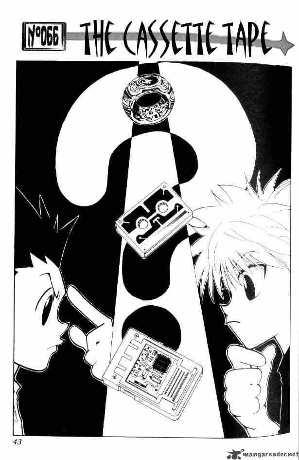 Hunter X Hunter Chapter 66 Page 1