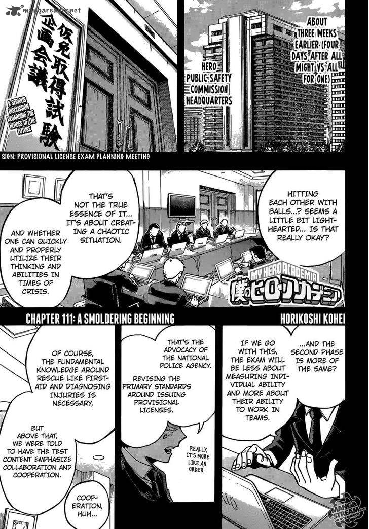 My Hero Academia Chapter 111 Page 1