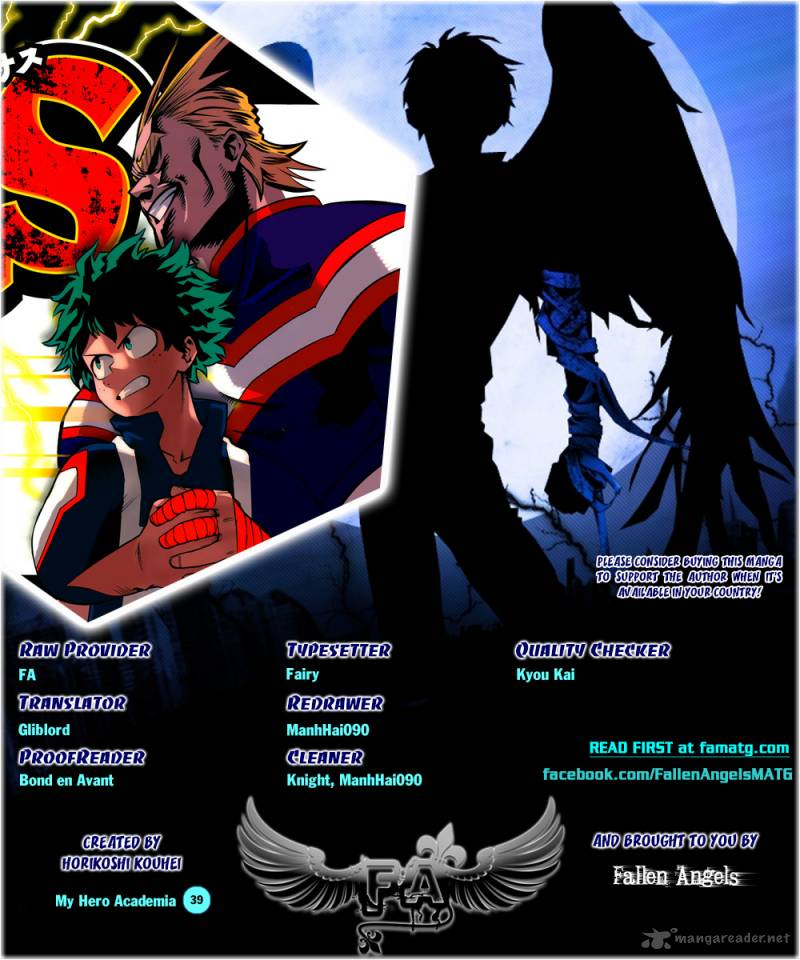 My Hero Academia Chapter 39 Page 1