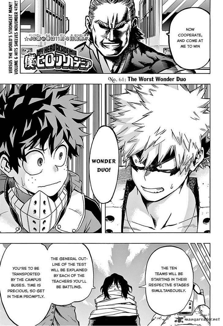 My Hero Academia Chapter 61 Page 1