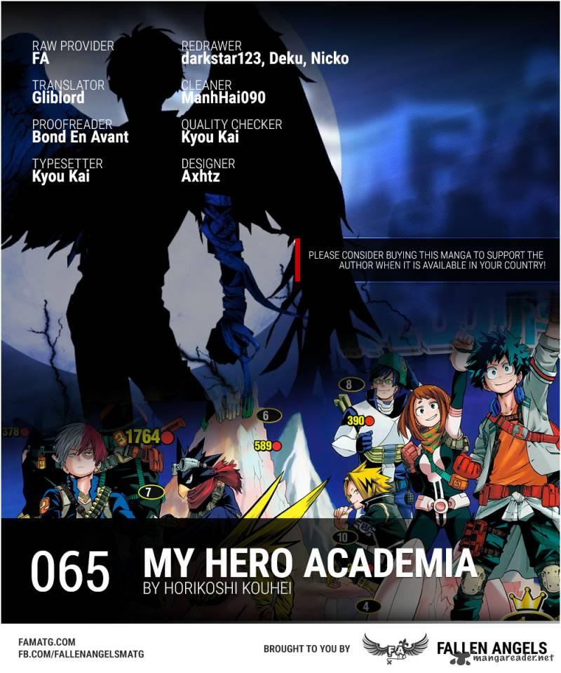 My Hero Academia Chapter 65 Page 1