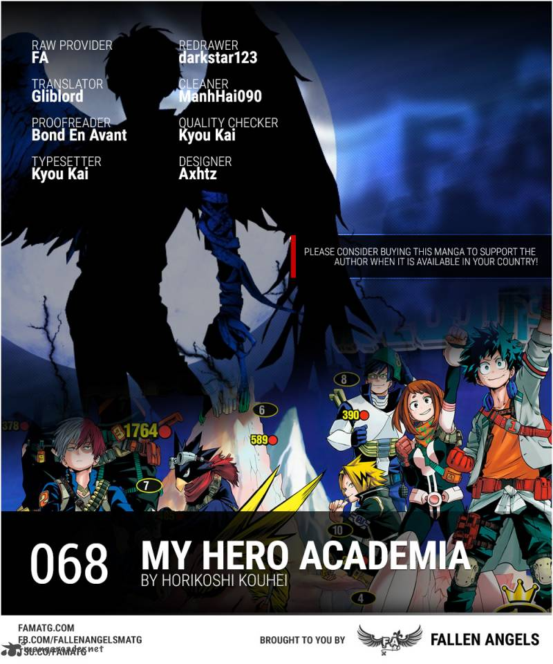 My Hero Academia Chapter 68 Page 1