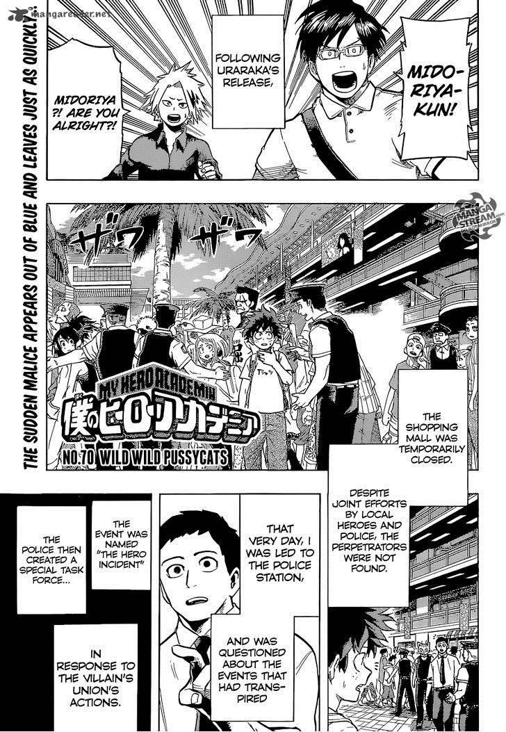 My Hero Academia Chapter 70 Page 1