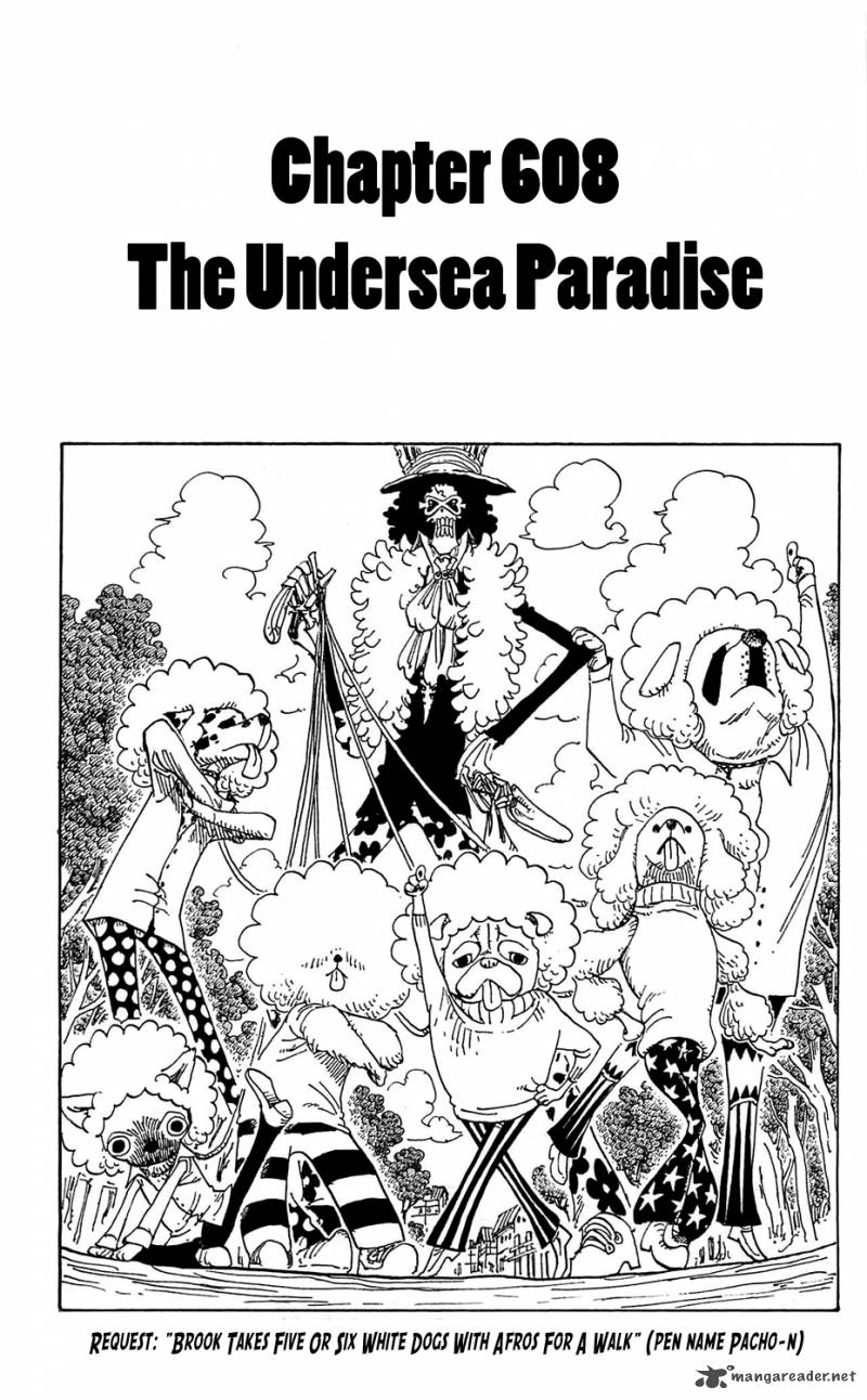 One Piece Chapter 608 Page 1
