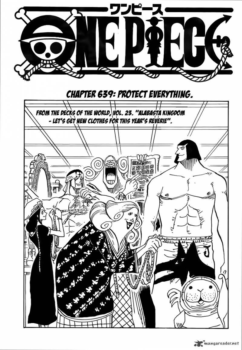 One Piece Chapter 639 Page 1