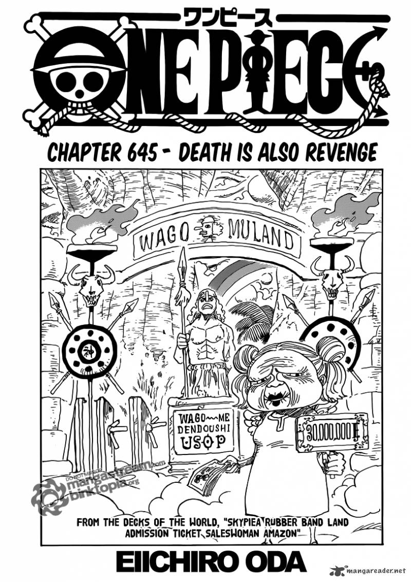 One Piece Chapter 645 Page 1