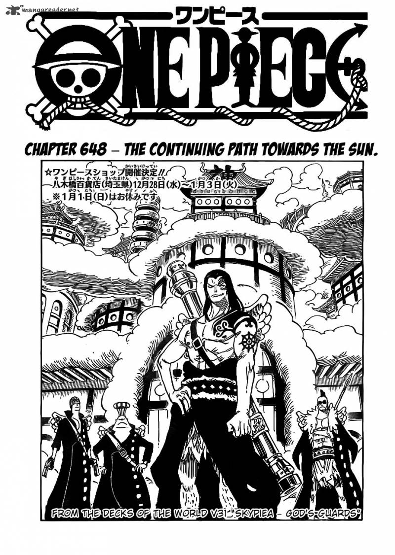 One Piece Chapter 648 Page 1