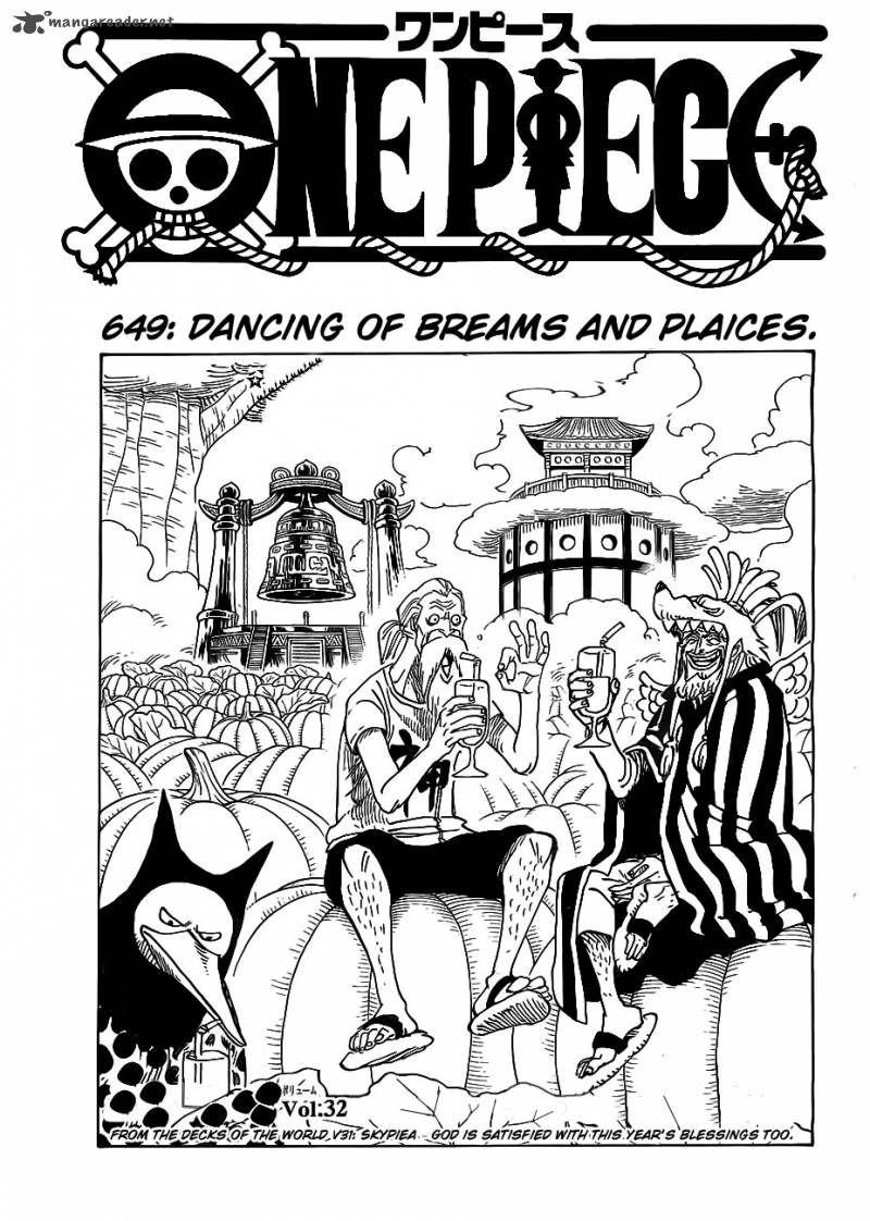 One Piece Chapter 649 Page 1