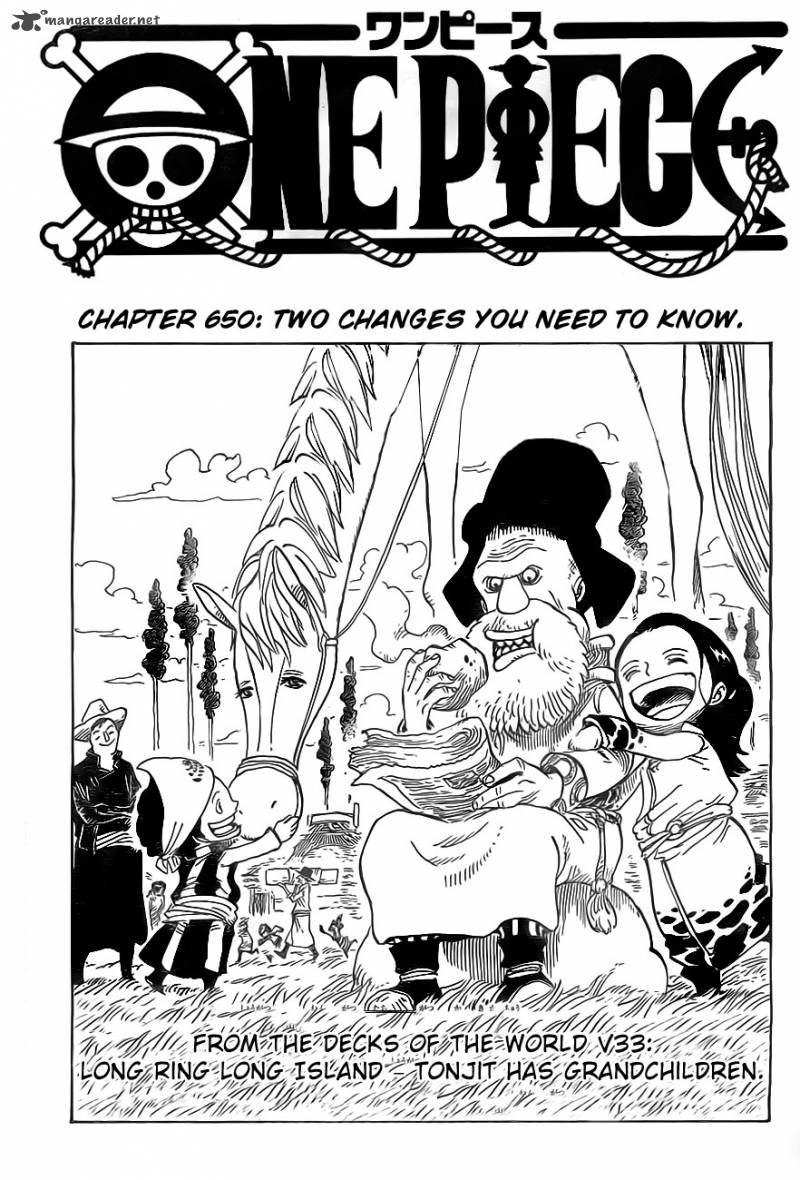 One Piece Chapter 650 Page 1