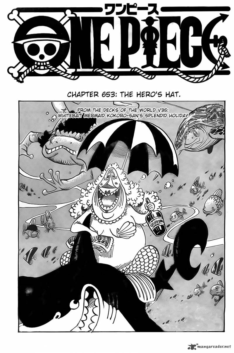 One Piece Chapter 653 Page 1