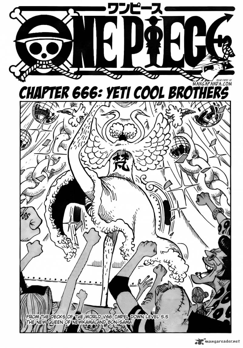 One Piece Chapter 666 Page 1