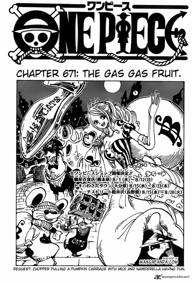 One Piece Chapter 671 Page 1