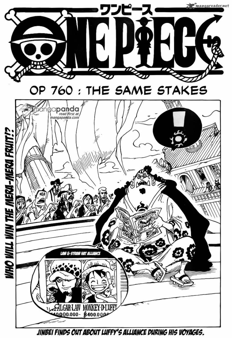One Piece Chapter 760 Page 1