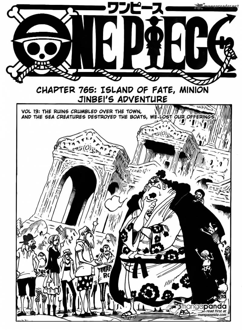 One Piece Chapter 765 Page 1