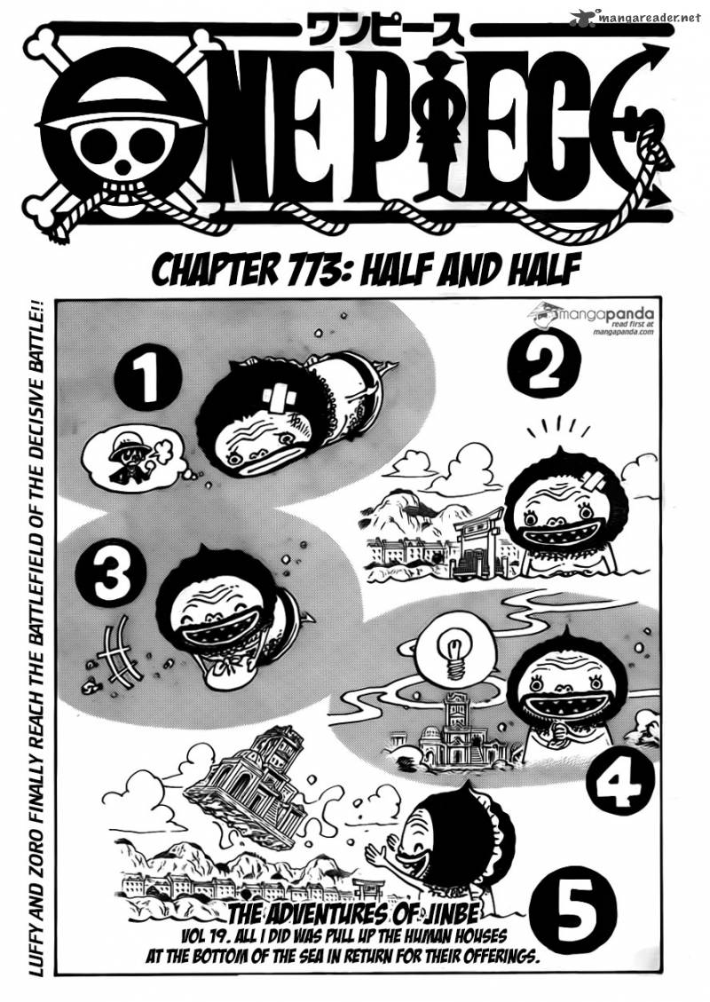 One Piece Chapter 773 Page 1
