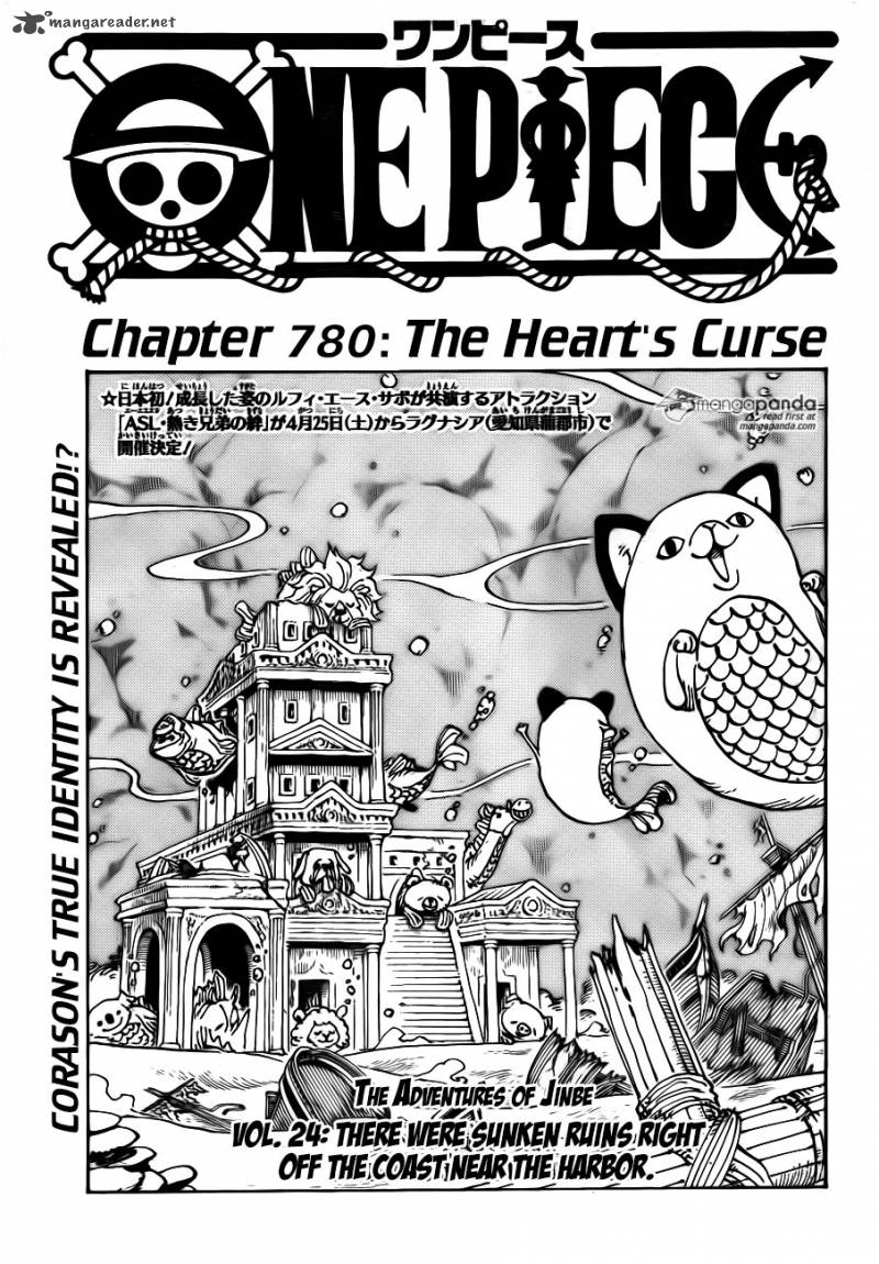 One Piece Chapter 780 Page 1