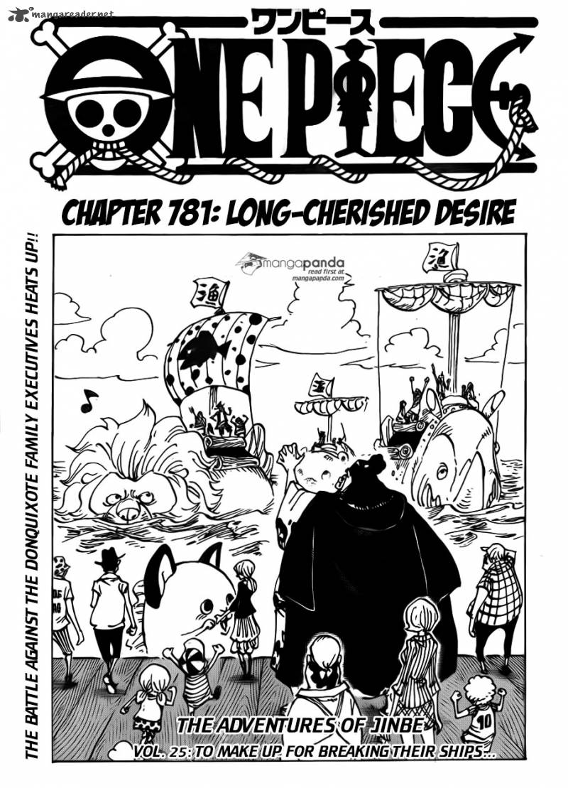 One Piece Chapter 781 Page 1