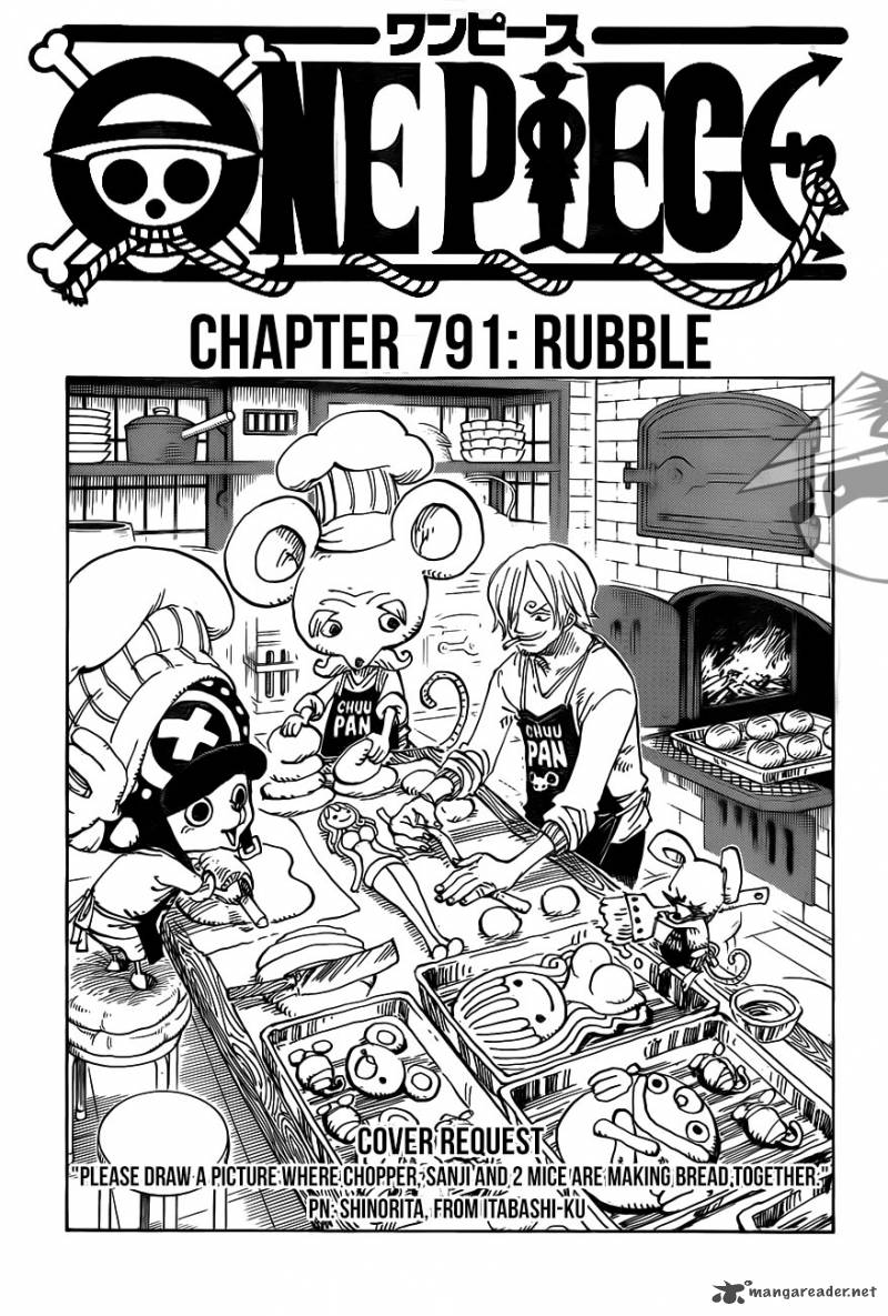 One Piece Chapter 791 Page 1