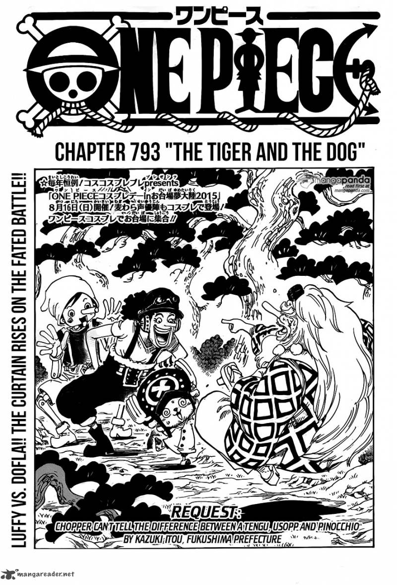 One Piece Chapter 793 Page 1