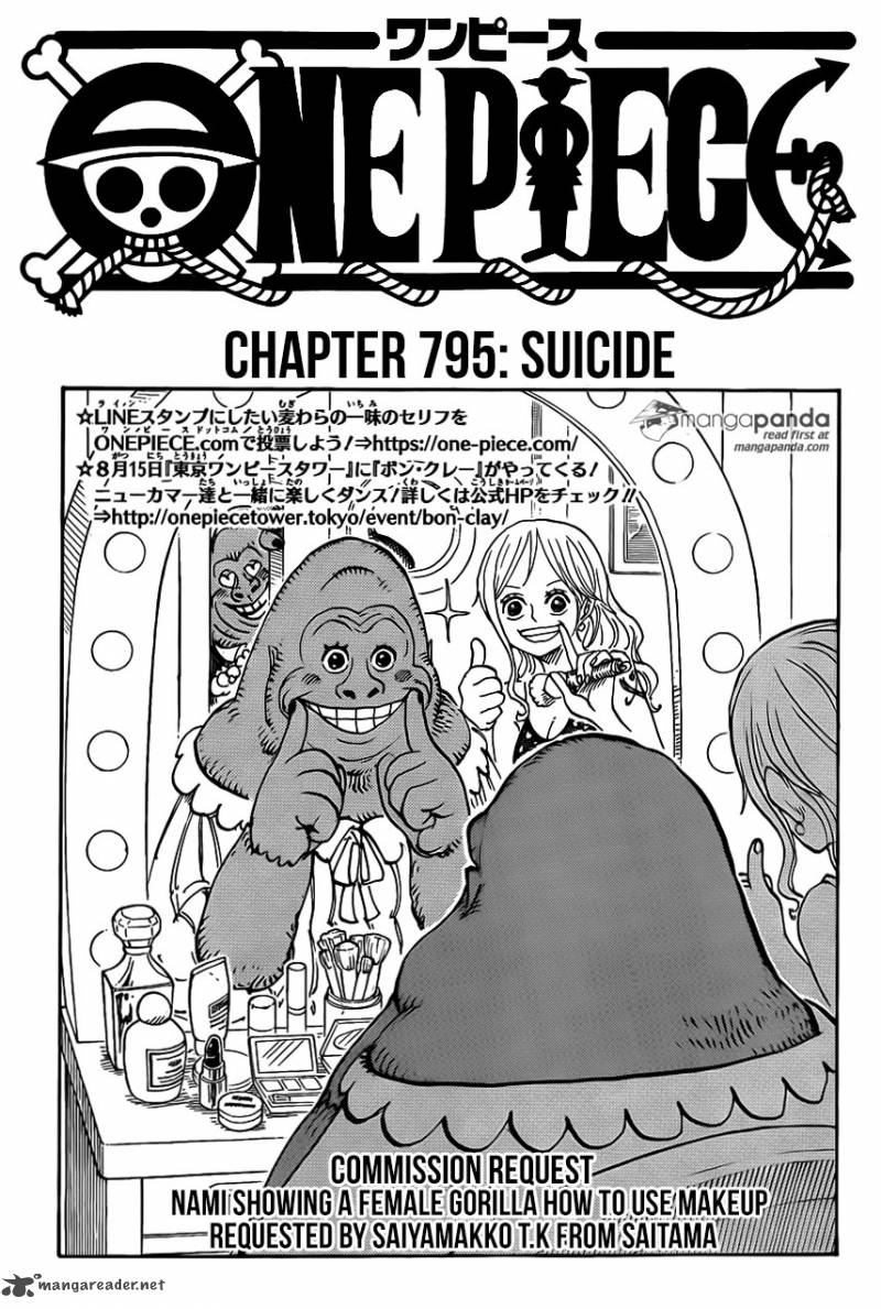 One Piece Chapter 795 Page 1