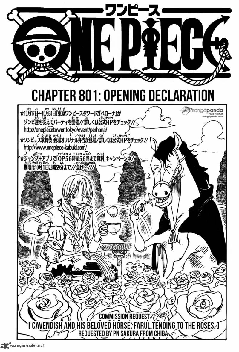 One Piece Chapter 801 Page 1