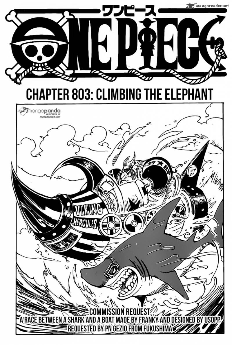 One Piece Chapter 803 Page 1